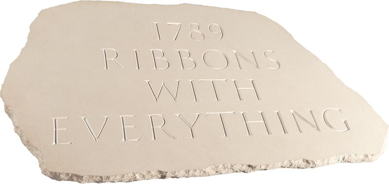 Ian Hamilton Finlay, '1789 Ribbons with Everything', 1994, Sculpture, Purbeck Portland stone, carved by Annet Stirling, Heritage Auctions