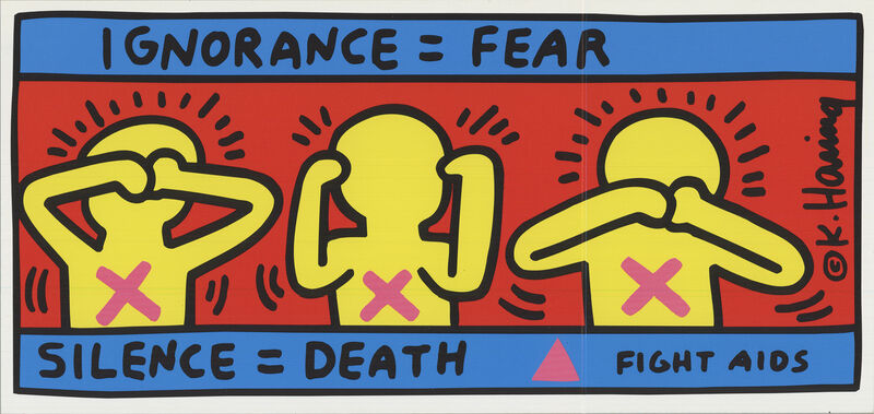 Keith Haring, 'Fight Aids', 1998, Ephemera or Merchandise, Offset Lithograph, ArtWise