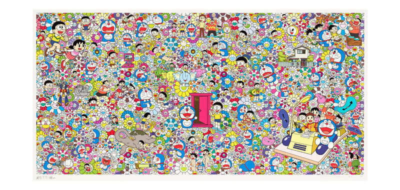 Takashi Murakami, 'Wouldn't It Be Nice If We Could Do Such A Thing', 2019, Print, Silkscreen with cold stamp, Lougher Contemporary