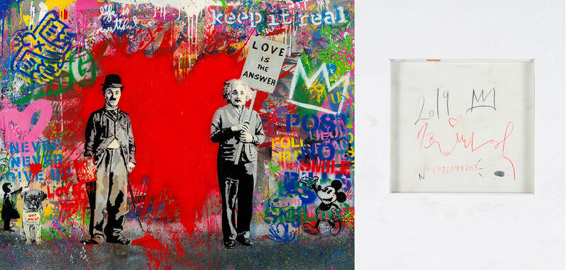 Mr. Brainwash, 'Juxtapose', 2019, Painting, Silkscreen and Mixed Media on Paper, Corridor Contemporary