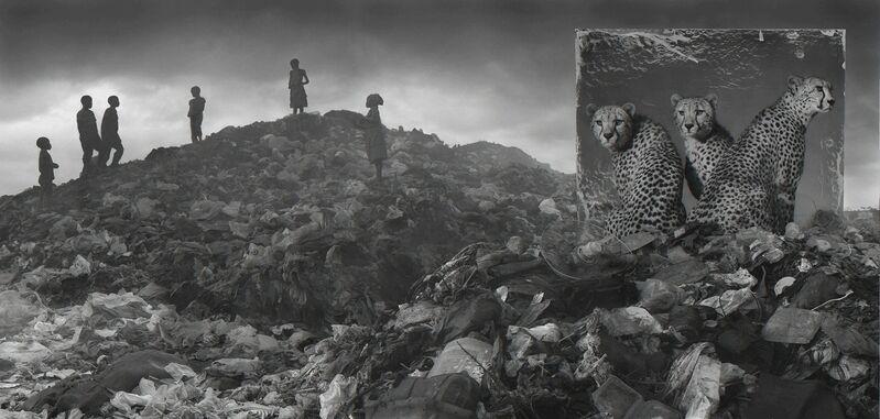 Nick Brandt, 'Wasteland with Cheetahs & Children', 2015, Photography, Archival Pigment Print, Fahey/Klein Gallery