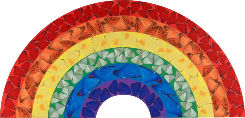 Damien Hirst, 'Butterfly Rainbow', 2020, Print, Laminated giclée print on aluminum composite panel, Heritage Auctions