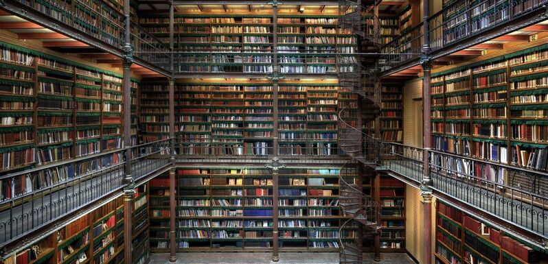 Christian Voigt, 'Research Library II, Amsterdam, The Netherlands', 2014, Photography, Light Jet, Exposure on high glossy paper, Alu-Dibond, Lucia Mendoza