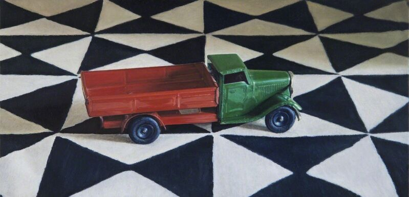 Lucy Mackenzie, 'Toy Truck on a Printed Cloth', 2012, Painting, Oil on board, Nancy Hoffman Gallery