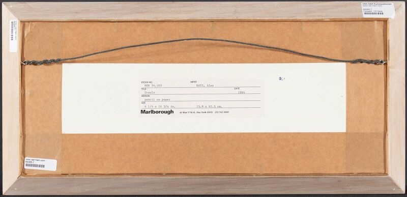 Alex Katz, 'Ursula', 1994, Drawing, Collage or other Work on Paper, Pencil on vellum, Van Ham