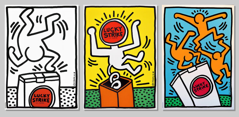 Keith Haring, 'Lucky Strike (I, II & III)', 1987, Print, A full set of three screenprints in colours on wove paper, Tate Ward Auctions