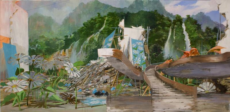 Adam Cvijanovic, 'Eden Lobby', 2010, Painting, Flash acrylic on Tyvek, mounted on wood panel, Postmasters Gallery
