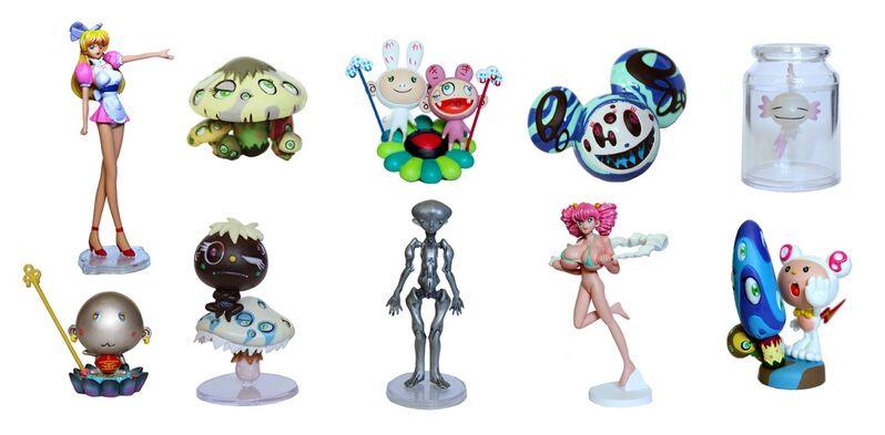 Takashi Murakami, 'Superflat Museum Set, Los Angeles Edition', 2005, Print, Set of ten PVC plastic figures, Doyle