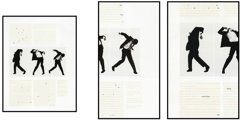 Natalie Czech, 'A poem by repetition by Allen Ginsberg', 2013, Photography, 3 C-Prints, 3 frames, museum glass, Kadel Willborn