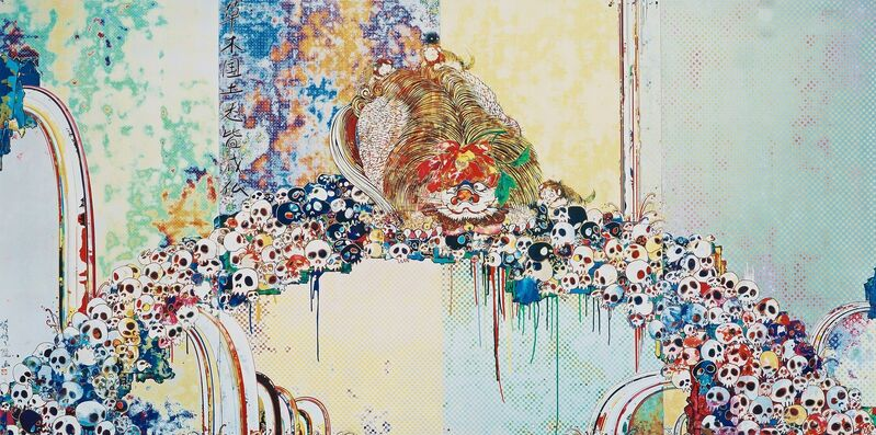 Takashi Murakami, 'A Picture of the Blessed Lion Who Stares at Death', 2012, Print, Offset lithograph on paper, Hang-Up Gallery