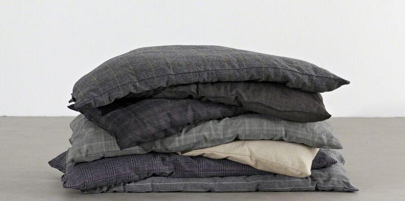 Maria Loboda, 'The beautiful banker', 2012, Installation, Cushions, seven disharmonious suit fabric, Maisterravalbuena