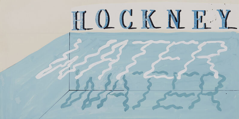 David Hockney, 'Water', 1989, Painting, Gouache on card with collaged element, ARCHEUS/POST-MODERN