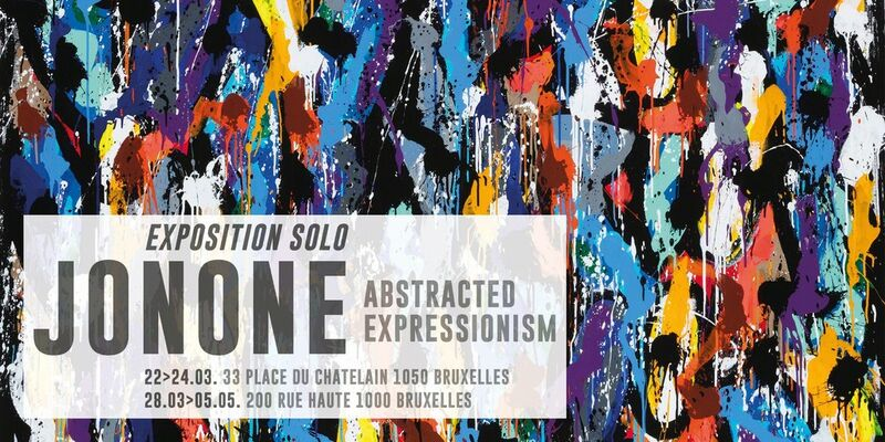 ABSTRACTED EXPRESSIONISM By JONONE, installation view