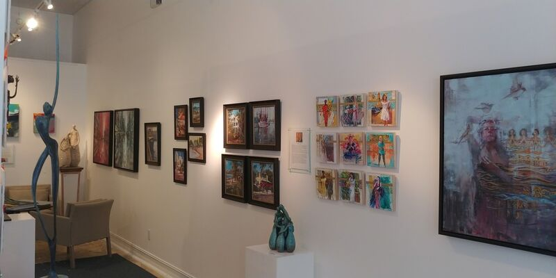 Juxtaposed: Impressionism~Abstraction, installation view