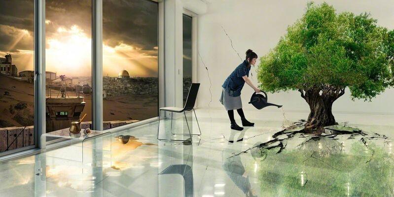 Larissa Sansour, 'Olive Tree ', 2012, Photography, Diasec mounted on acrylic, Montoro12 Contemporary Art