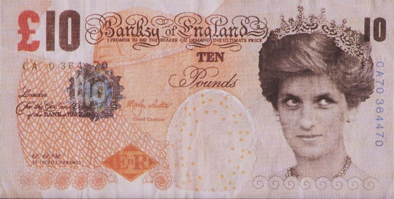 Banksy, 'Di-faced Tenner, 10 GBP Note', 2005, Print, Offset lithograph in colors, Rago/Wright/LAMA