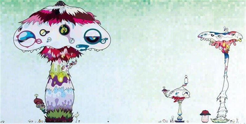 Takashi Murakami, 'Hypha Will Cover The World Little By Little', 2009, Print, Offset lithograph on paper, Hang-Up Gallery
