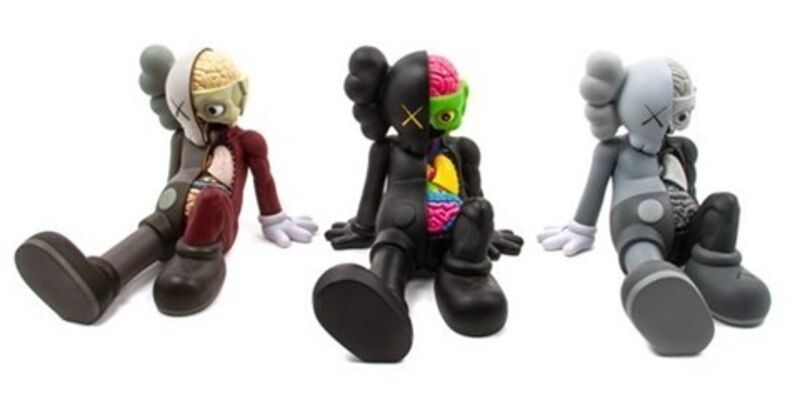 KAWS, 'Resting Place Companions (set of three)', 2012, Sculpture, Painted cast vinyl, Lougher Contemporary