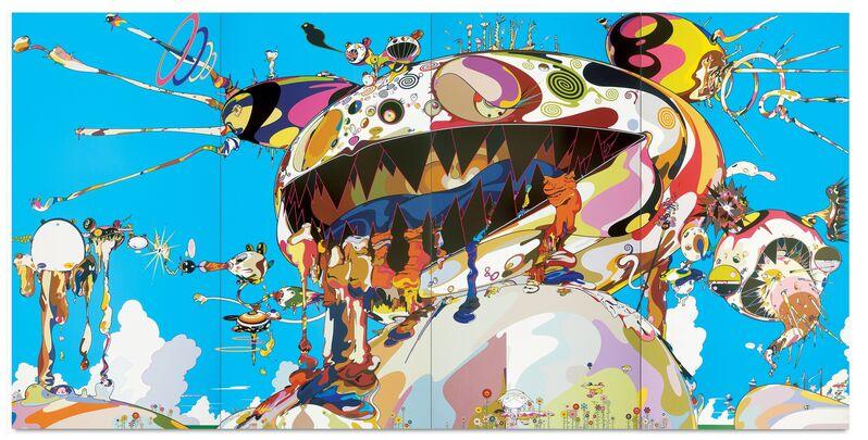 Takashi Murakami, 'Tan Tan Bo Puking - a.k.a. Gero Tan', 2002, Painting, Acrylic on canvas mounted on board, MCA Chicago