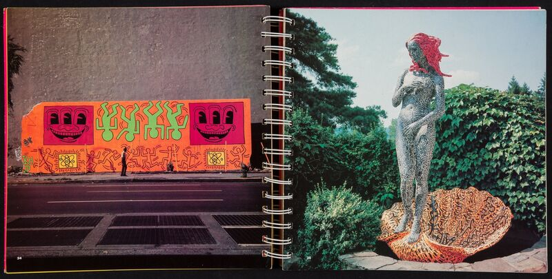 Keith Haring, 'Radiant Baby Drawing', 1982, Drawing, Collage or other Work on Paper, Spiral bound softcover book, Heritage Auctions