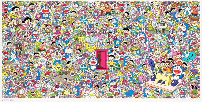 Takashi Murakami, 'Wouldn't It Be Nice if we Could Do Such a Thing', 2017, Print, Offset print, Lougher Contemporary