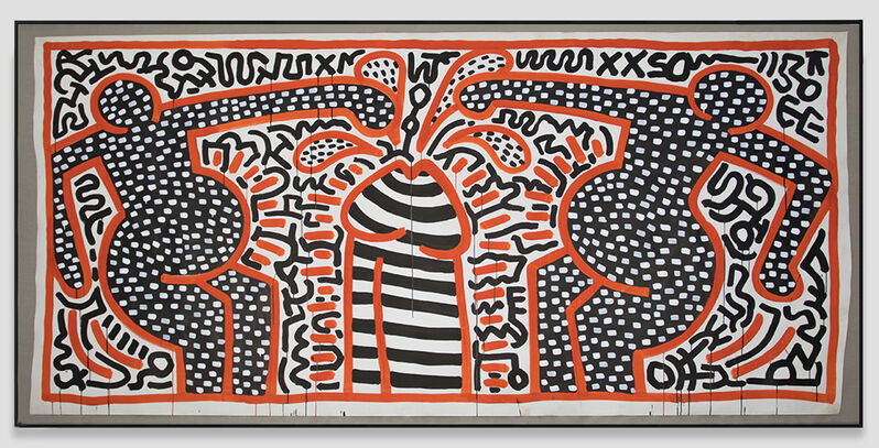 Keith Haring, 'Untitled ', 1983, Painting, Acrylic on paper, Opera Gallery