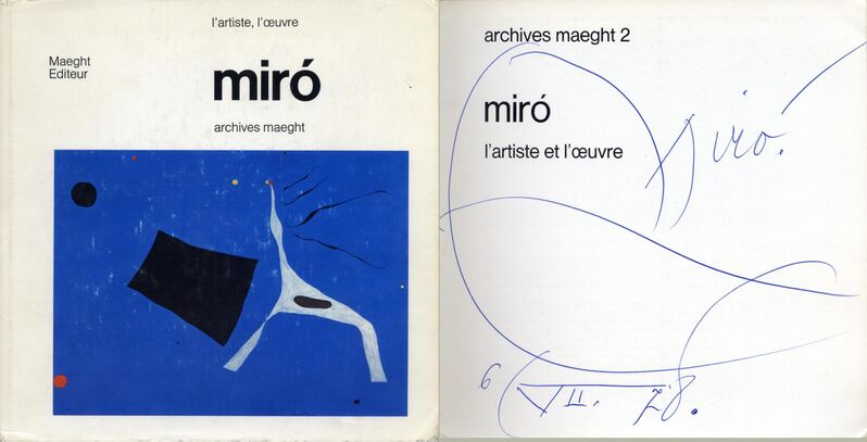 Joan Miró, 'Artistically signed book', ca. 1971, Books and Portfolios, Blue ballpoint ink, Sylvan Cole Gallery