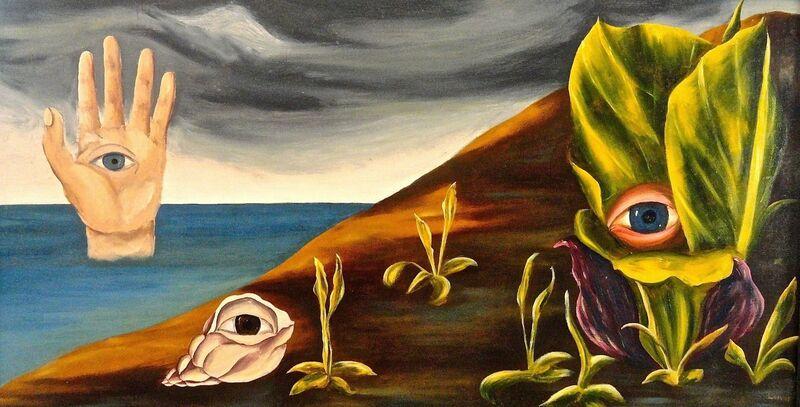 Doris Lindo Lewis, 'Surrealist Landscape', ca. 1930, Painting, Oil, Bakker Gallery