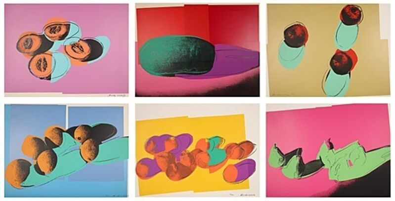 Andy Warhol, 'Space fruit: Still lifes', 1979, Print, Set of 6 screenprints in colours on Lenox Museum Board, Galerie Boisseree