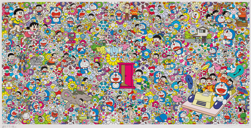 Takashi Murakami, 'That Sounds Good, I Hope You Can Do That', 2019, Print, Screenprint in colours with cold stamped gold foil, on smooth wove paper, with full margins., Phillips