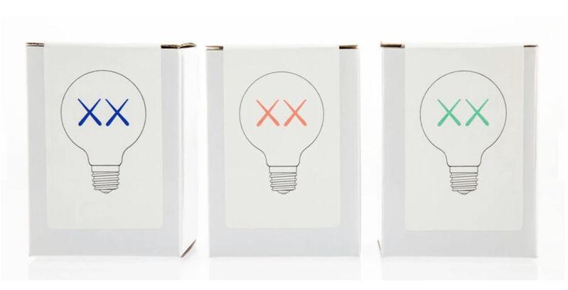 KAWS, 'KAWS X Standard Hotels. Bulb Set', 2011, Ephemera or Merchandise, Three 120 volt light bulbs, Gallery 1890
