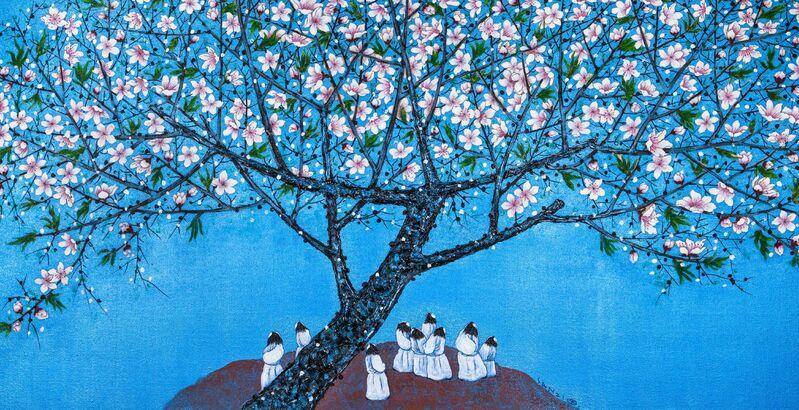 Sanzi, '桃花园里 Peach-Blossom Spring', 2014, Painting, Mixed Media on Canvas, Art WeMe Contemporary Gallery