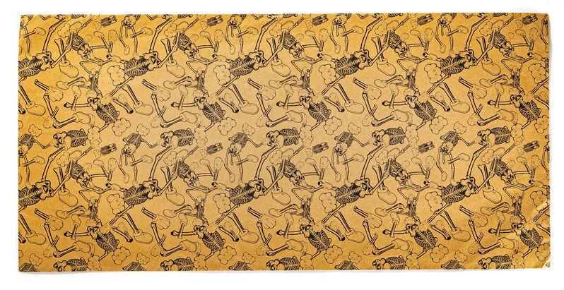 KAWS, 'COMPANION SKELETON', 2007, Print, Screenprint in color on cardboard, DIGARD AUCTION