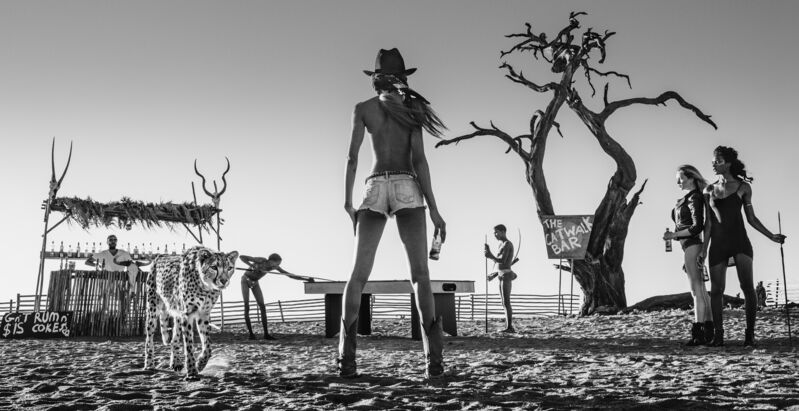 David Yarrow, 'The Good, The Bad And The Ass', 2017, Photography, Museum Glass, Passe-Partout & Black wooden frame, Leonhard's Gallery
