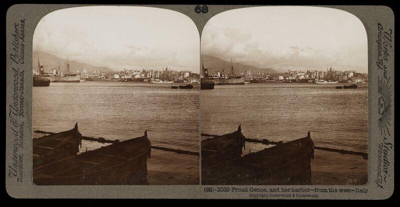Bert Underwood, 'Proud Genoa', 1900, Stereograph : gelatin silver, Getty Research Institute