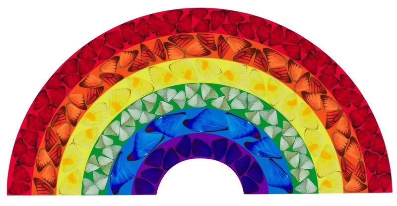 Damien Hirst, 'Butterfly Rainbow (Large)', 2020, Print, Laminated Giclée print on aluminium composite panel, RAW Editions