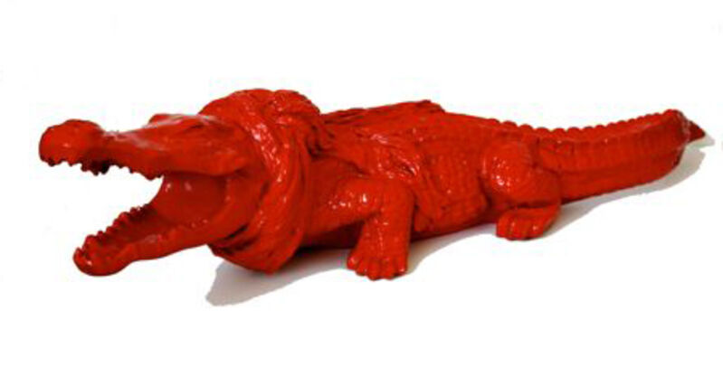 William Sweetlove, 'Cloned crocky with scarf', 2009, Sculpture, Recycled plastic, resin, Kunsthuis Amsterdam