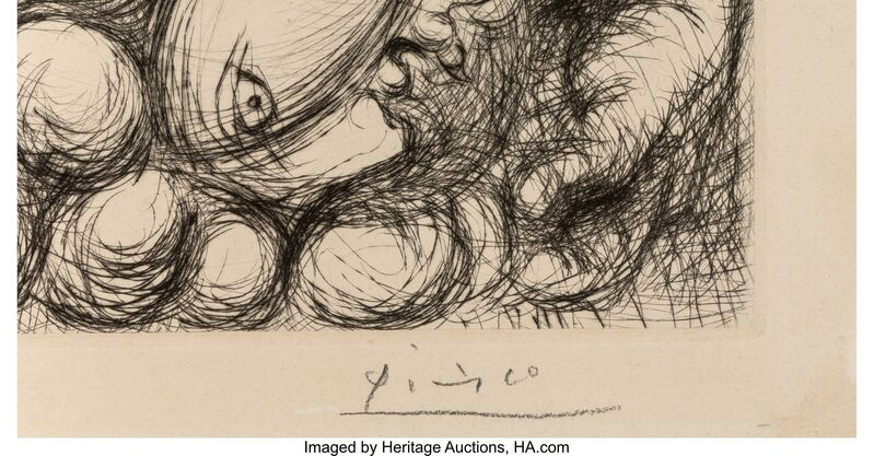 Pablo Picasso, 'Le Viol, V', 1933, Print, Drypoint on Montval laid paper, with full margins, Heritage Auctions