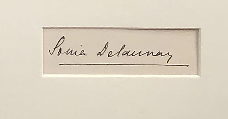 Sonia Delaunay, 'Danseuse Jaune pour l'entracte du Coeur à Gaz/La Robe Zig Zag', 1923, Print, Stencil, ArtWise