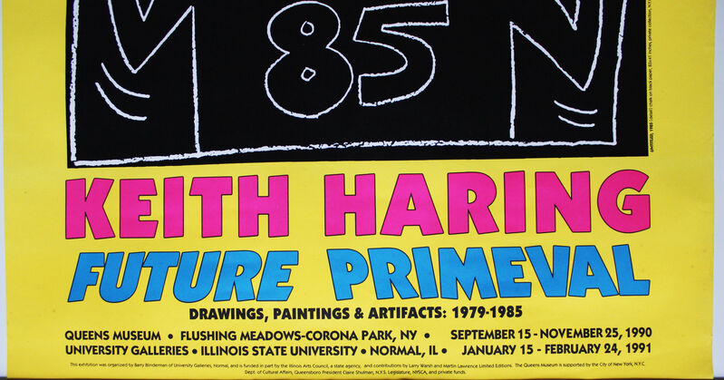 Keith Haring, 'Future Primeval poster', 1990, Ephemera or Merchandise, Offset lithograph on wove paper, EHC Fine Art