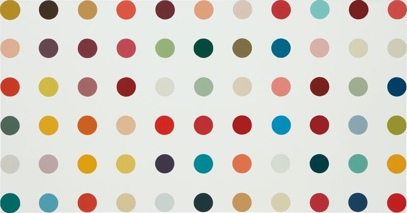 Damien Hirst, 'Adenylosuccinate Lyase', 1992, Mixed Media, Household gloss on canvas, Phillips