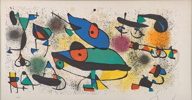 Joan Miró, 'Sculptures II', 1974, Print, Lithograph in colors (framed), Rago/Wright/LAMA