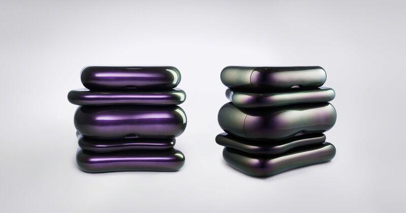 Mattia Bonetti, 'Side Tables 'Toast'', 2008, Design/Decorative Art, Fibreglass structure, with custom metallic paint, David Gill Gallery