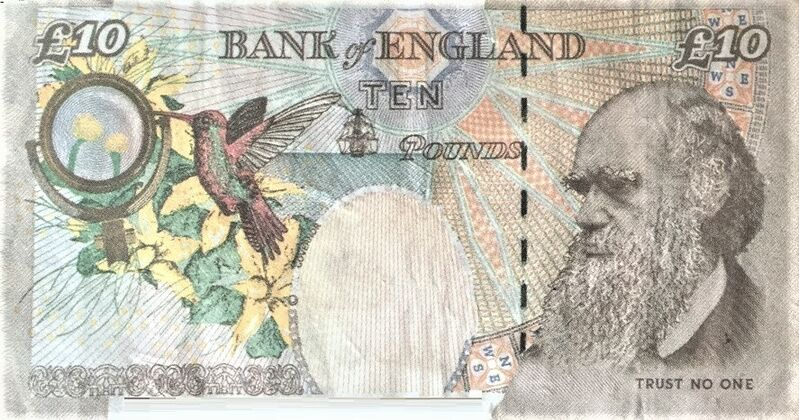 Banksy, 'The Di-Faced tenner (with COA Hand-Signed)', 2004, Drawing, Collage or other Work on Paper, Custom bank note, AYNAC Gallery