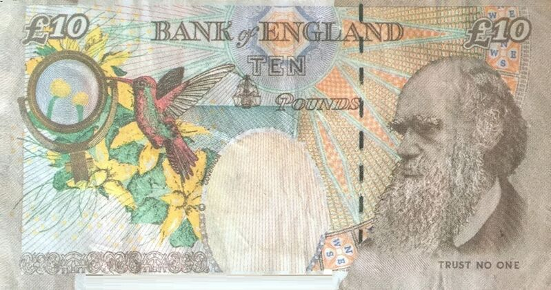 """Banksy, '""""Di-Faced Tenner"""" with hand-signed certificate', 2004, Drawing, Collage or other Work on Paper, Bank note custom, AYNAC Gallery"""