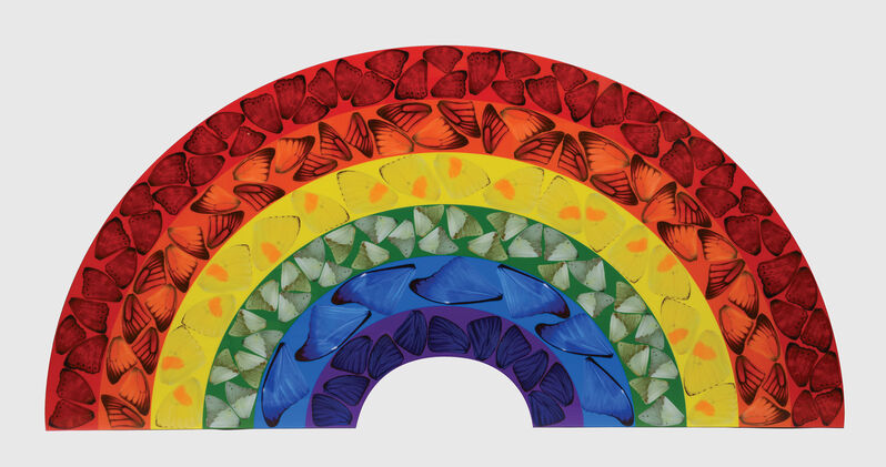 Damien Hirst, 'Butterfly Rainbow', 2020, Print, Laminated giclée print on aluminium composite panel, Peter Harrington Gallery