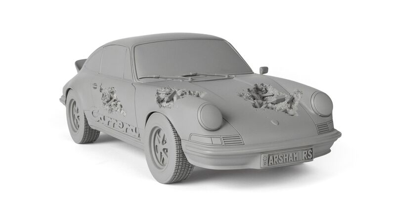 Daniel Arsham, 'ERODED CARRERA RS (GRAY)', 2021, Sculpture, Resin, Plaster and Aluminium Oxide, Dope! Gallery