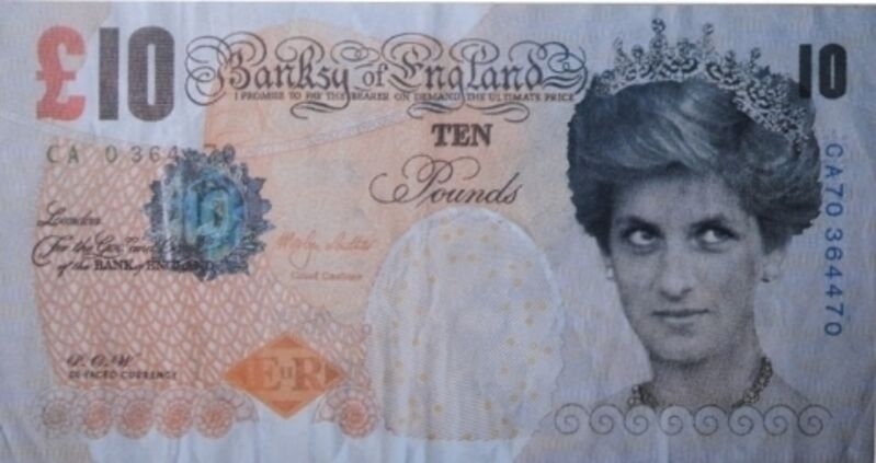 Banksy, 'Difaced Tenner', 2004, Print, Offset lithograph, Dope! Gallery Gallery Auction