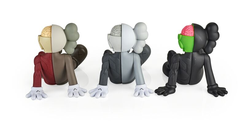 KAWS, 'Three Resting Place Companions (black, red, and grey)', 2012/2013, Sculpture, Vinyl, Rago/Wright