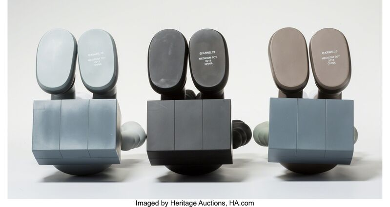 KAWS, 'Companion-Passing Through, set of three', 2013, Other, Painted cast vinyl, Heritage Auctions